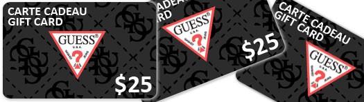 concours une carte cadeau chez guess de 25 site de concours 2 juillet 2012. Black Bedroom Furniture Sets. Home Design Ideas
